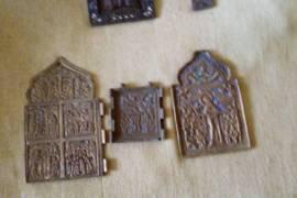 Иконы и кресты бронзовые с росписью