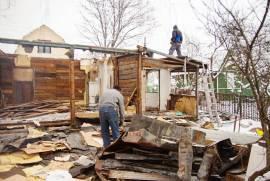 Демонтаж старых строений и заборов
