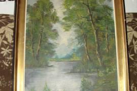 """Картина """"Лесное озеро"""""""
