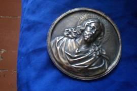 Икона-плакетка серебряная XIX века
